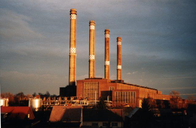 Kraftwerk Sonnenuntergang