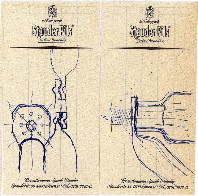 Skizze von Jürg Steiner 1989 im Bahnhof Braunschweig Scan: 19/6/3 st Ordner Zulassung im BS