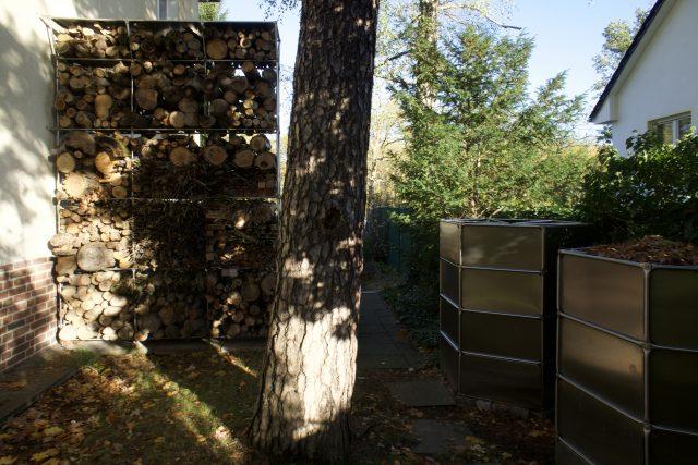 Holzlager Kompostierer